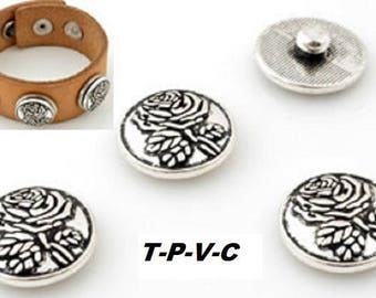 Metal snap ± 18x7mm (suitable for jewelry size: L)