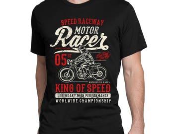 T-shirt motor racer, vintage.