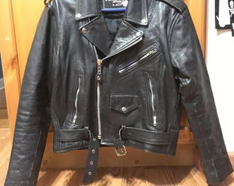 Vintage Leather Motorcycle jacket.