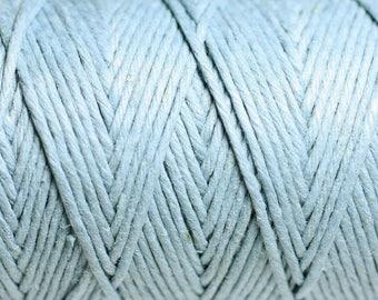Reel 90 m - 1.2 mm light blue hemp twine cord - 8741140010949