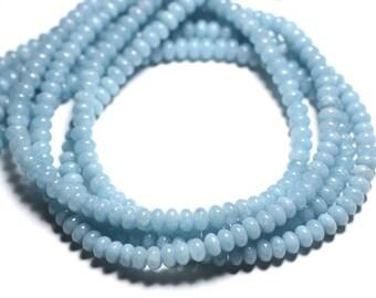 20pc - stone beads - Quartz turquoise 6x4mm Rondelle - 4558550085535