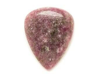 N4 - Cabochon stone - purple pink Lepidolite drop 33x26mm - 8741140017948