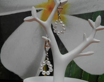 Drops of water (earrings silver plated and beads)
