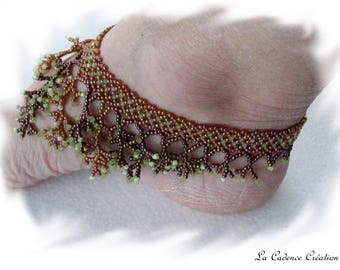 anklet beaded coral way...