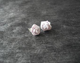 """Earing """"white roses"""" flower paper"""