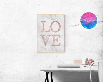 LOVE Home Décor Print by North C Designs