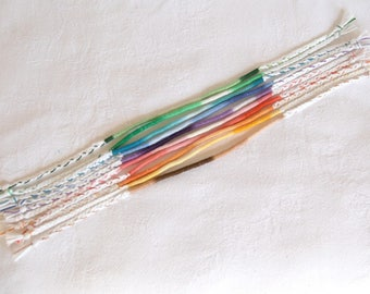 Atebas bleached ombre wrap bracelet hippie bangles to accumulate Brasilda - choice of color