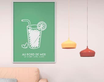 Poster Poster green glass