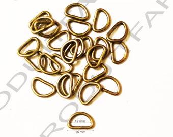 12 rings for strap 16 mm Bronze Metal shoulder strap handle