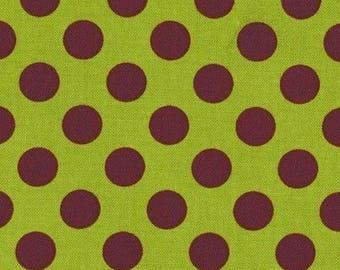 Patchwork polka dot ta dot green loden Miller fabric