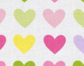 Multicolor hearts Kaufman Remix patchwork fabric