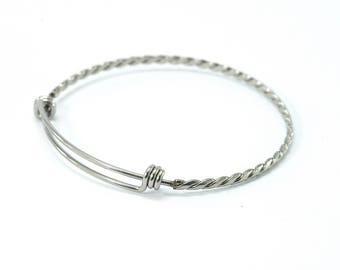 Bangle twisted - Stainless steel