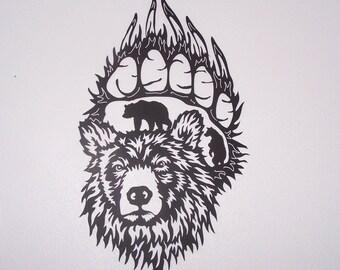 Bear Claw Metal Art