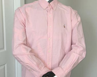 Polo Ralph Lauren-Oxford Long Sleeve Button Down-Pink Pastel