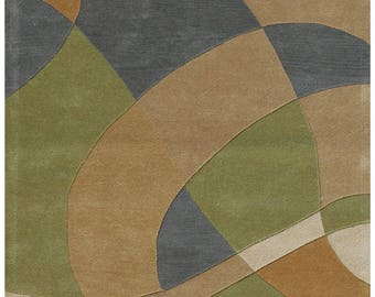 Multi Colored Abstract Area Rug