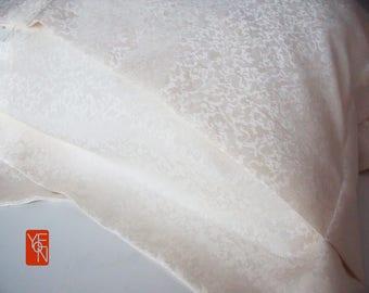 Set of 2 100% silk jacquard pillow cover