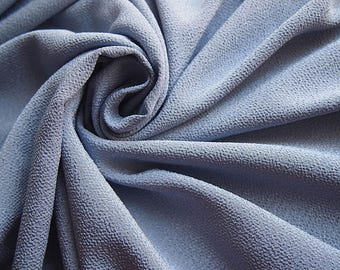 Fabric Japanese chirimen silvery blue 112 * 50 cm