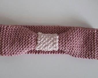 Headband pink glittery pale and dusty rose