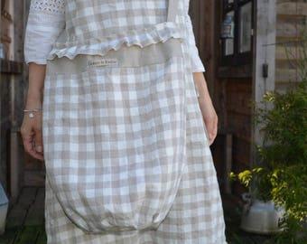 linen Plaid tote bag pattern Clementine