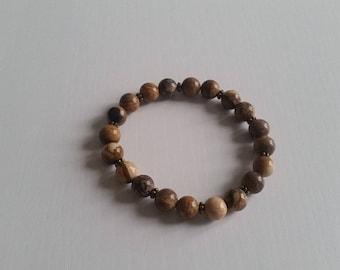 Yellow Jasper (8 mm beads) bracelet