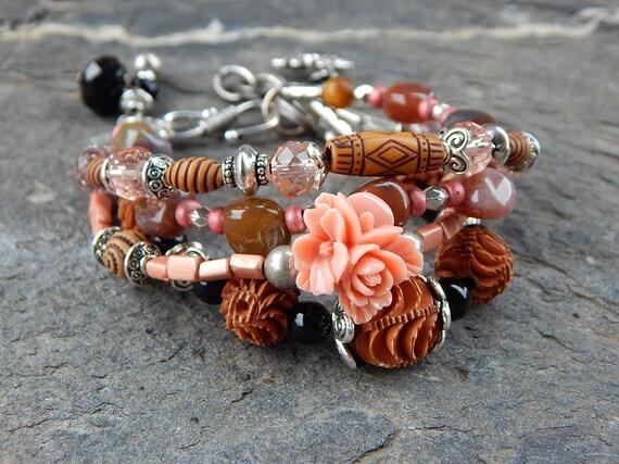 Bracelet fleur rose !