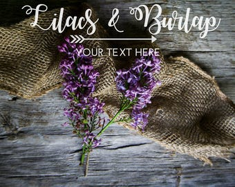 Styled Stock Photography   Lilacs   Rustic Style  