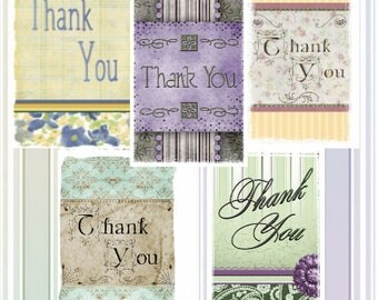 "Shabby Chic Thank You Cards [Note Card 5"" x 4.25""]"