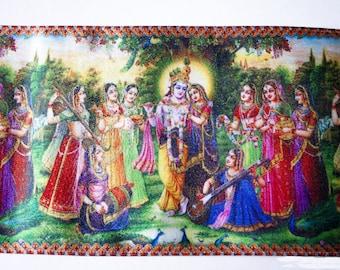 Ribbon Krishna Indian multicolor 10 cm x 50 cm