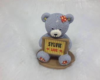 Teddy bear love personalized Sylvie name