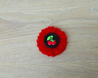 Flowers textile customization with cherry button