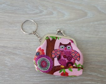 OWL coin key ring