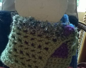 wool striped cowl scarf .in early for Christmas