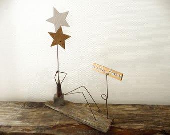 """Statuette Figurine  """"Avoir la tête dans les étoiles"""""""