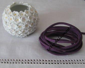 1 m Purple Purple suede 3 mm bracelet creations