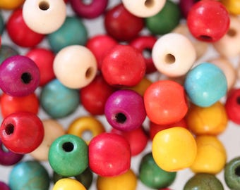 ❥ 10 howlite beads mix multicolor 6mm