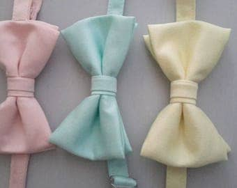 Bow tie groom double pastel colours