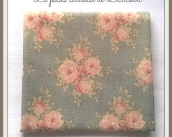 Ella blue grey Tilda fabric coupon