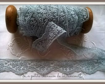 Wild rose S blue grey lace