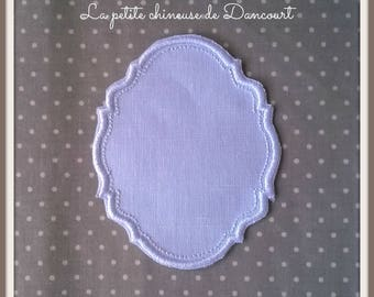 Embroidered Gustavian setting