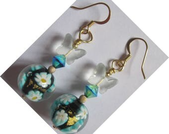 "Metal color gold, ANTIALLERGIC ""perfume"" earrings"