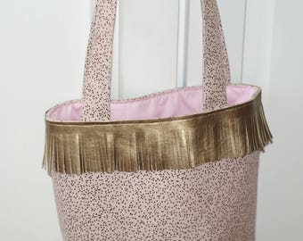 bag tote bag lined with fringe, for child