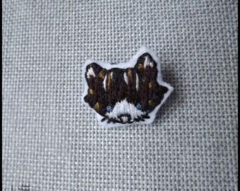Cat Brown pin stripes