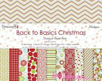 "Set of 24 sheets theme ""Modern Christmas"" 20 X 20 cm scrapbooking cardmaking (ref.110). *."