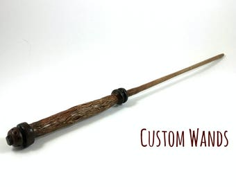 Custom Wand, Custom Harry Potter Wand, Gryffindor Wand, Green and Silver Wand, Pottermore Wand, Fantastic Beasts and Where to Find Them