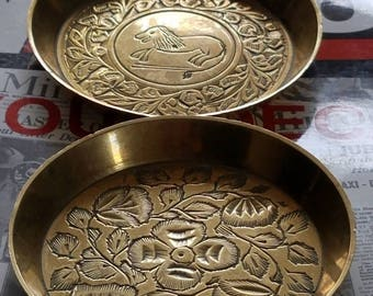 Brass Plates Set of Two
