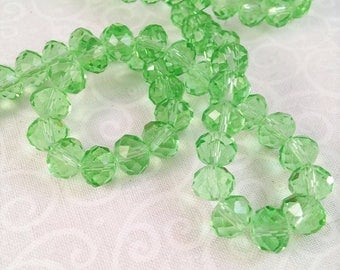 10 6 X 8 mm faceted transparent Crystal beads