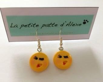 Emoji number 5 earrings