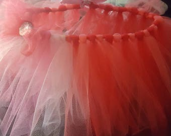Beautiful Red and Pink Tutu