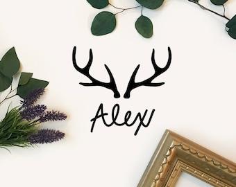 Custom Deer Antler Decal