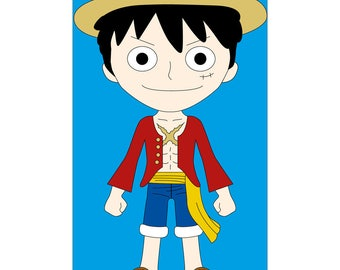 Luffy One Piece leather eReader Tablet cover
